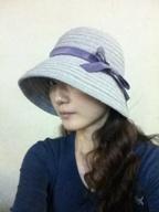 帽子の形はキレイ!