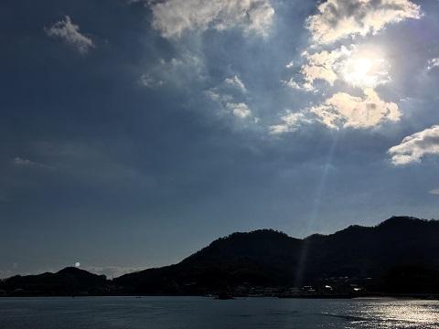 笠岡の入り江です