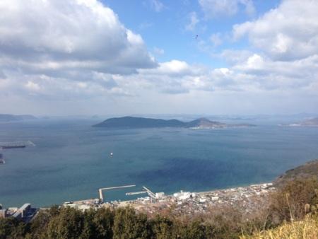 新屋島ドライブコースからの景色は感動モノ!