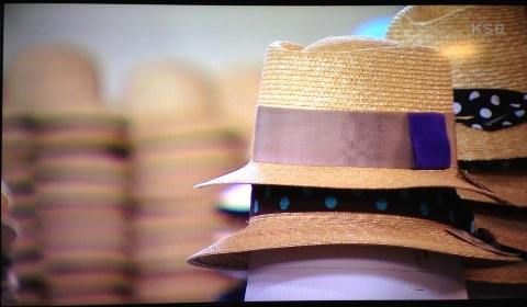 テラピンチという型の麦わら帽子です