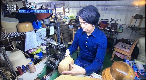 その場で縫製しています