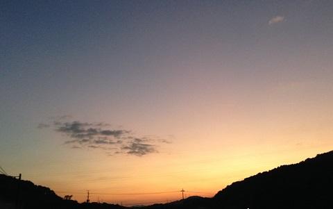 日が落ちるのも早くなりました